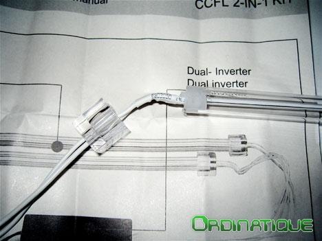 Démontage du tube protecteur du néon