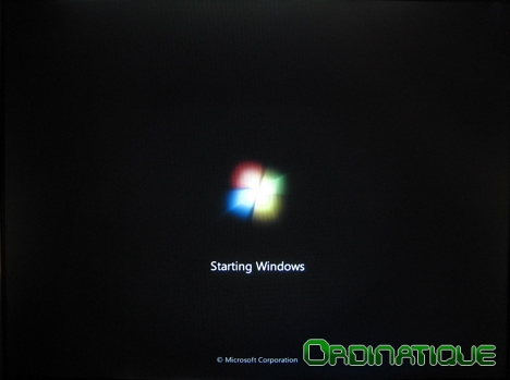 Splash screen starting Windows