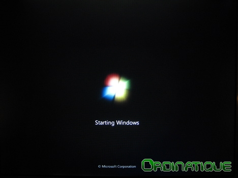 Splah Screen de démarrage de Windows Seven