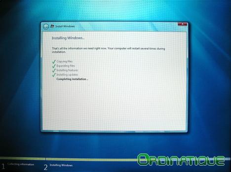 Installation de Windows Seven
