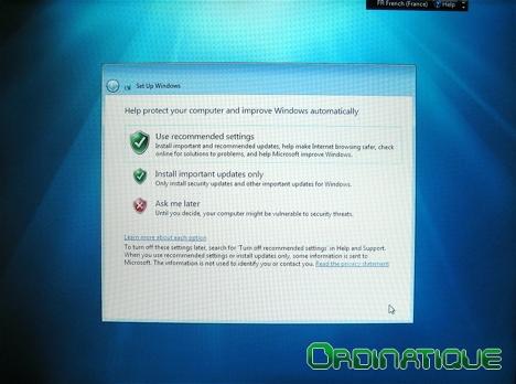 Centre de sécurité Windows Seven