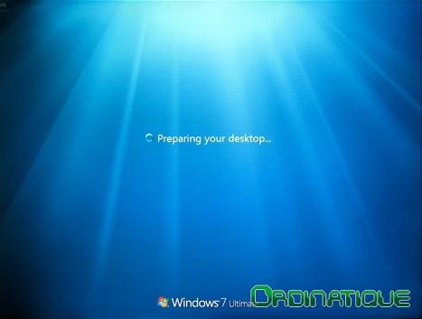 Préparation du bureau de Windows Seven