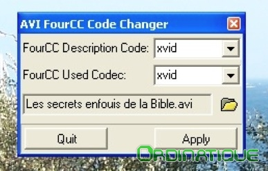 FourCC Code Changer