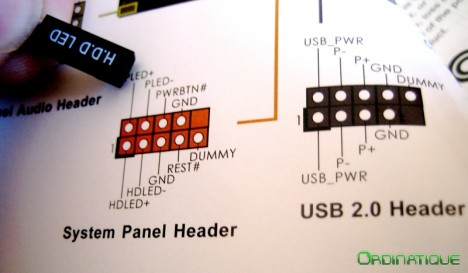 Front Panel Header